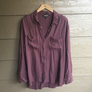 Express button down cater work blouse